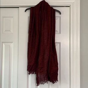 Sparkly deep red Express scarf